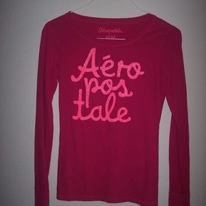 Aeropostale Fusia Long Sleeve Top Juniors Size M
